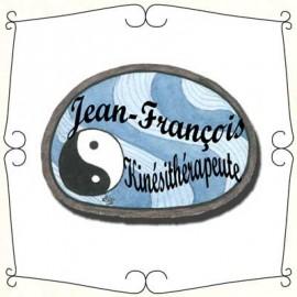 Badge en bois Ying Yang