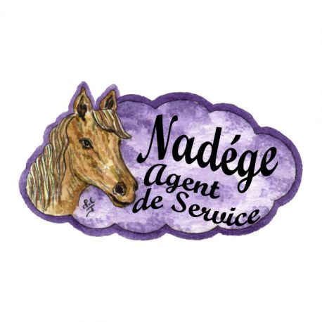 Badge en bois Cheval