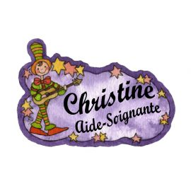 Badge en bois Guitariste