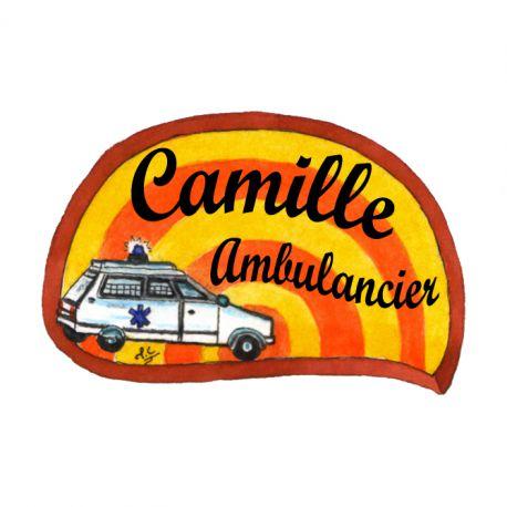 Badge en bois Ambulance