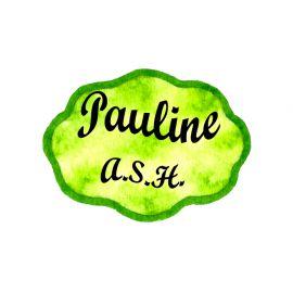 Badge en bois Fond vert