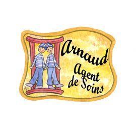 Badge en bois Gémeaux