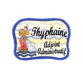 Badge en bois Verseau