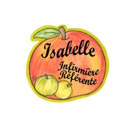Badge en bois Pomme