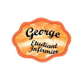 Badge en bois Orange
