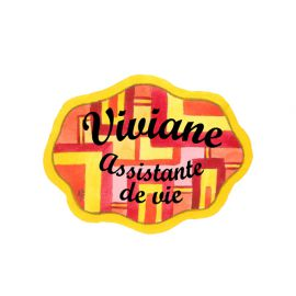 Badge en bois GéoJaune