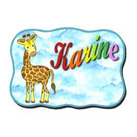 Plaque de porte La girafe