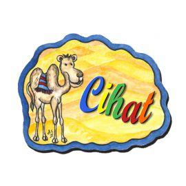 Plaque de porte Chameau