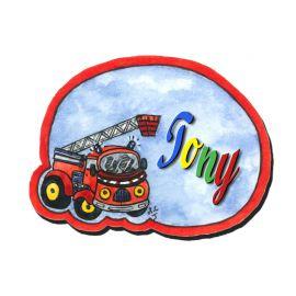 Plaque de porte Camion Pompier