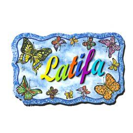 Plaque de porte Papillons