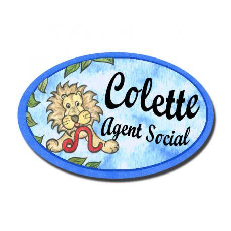 Badge Métal Lion Zodiaque
