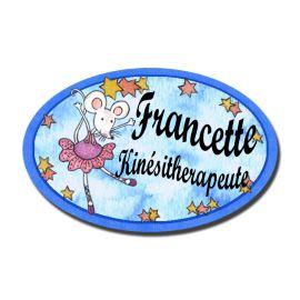 Badge Métal Souricette