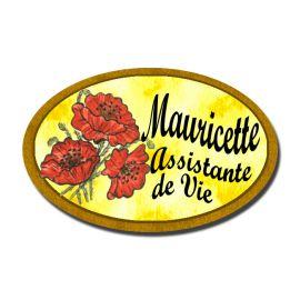 Badge Métal Coquelicot
