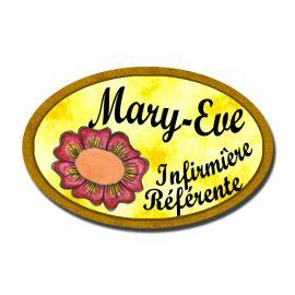 Badge Métal Fleur Rouge