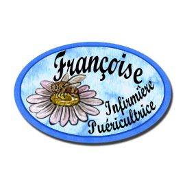 Badge Métal Marguerite