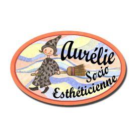 Badge Métal Sorcière