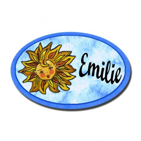 Badge Métal Soleil