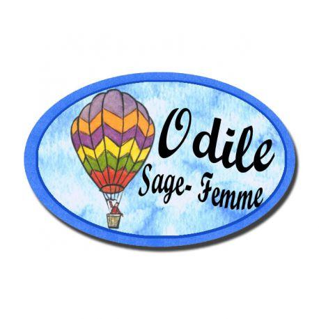 Badge Métal Montgolfière