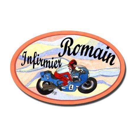 Badge Métal Moto
