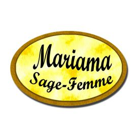 Badge Métal Jaune