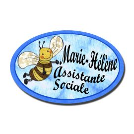 Badge Métal Abeille