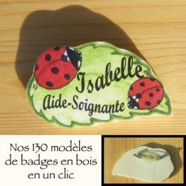 Badges en bois